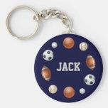 Mundo de Jack del llavero de los deportes - azul