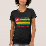 Mundo de la bandera de Togo Camisetas