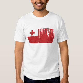 Mundo de la bandera de Tonga Polera