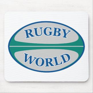 mundo de la bola de rugbi tapetes de raton