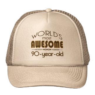mundo de la celebración del cumpleaños 9oth mejor  gorro de camionero