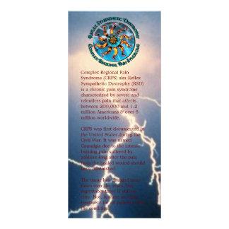 Mundo de la conciencia de CRPS RSD de la tarjeta Lonas