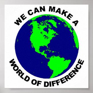 Mundo de la diferencia póster