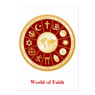 Mundo de la fe tarjetas de visita grandes