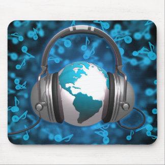 Mundo de la música alfombrillas de raton