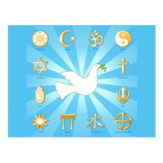 Mundo de la paz tarjeta postal