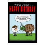 Mundo de la tarjeta de cumpleaños de la piña de la