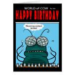 Mundo de la tarjeta de cumpleaños de la vaca