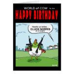 Mundo de la tarjeta de cumpleaños de la vaca - clo