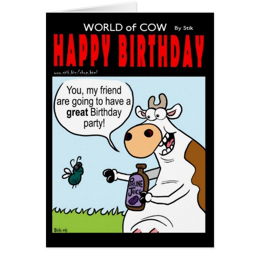 Mundo de la tarjeta de cumpleaños de la vaca - vue