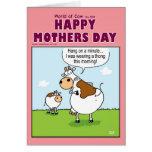 Mundo de la tarjeta del día de madres de la vaca