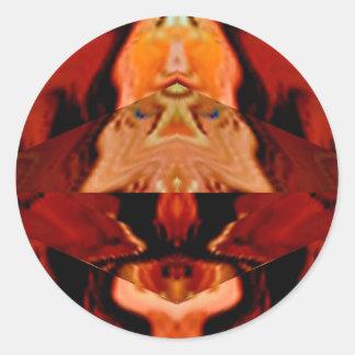Mundo de los espíritus de oro de Brown - modelos c Etiqueta Redonda