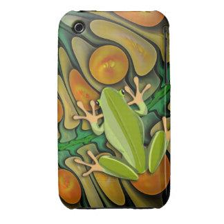 Mundo de los Froggies, artístico lindo Case-Mate iPhone 3 Carcasas
