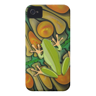 Mundo de los Froggies, artístico lindo Case-Mate iPhone 4 Carcasa