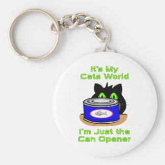 Mundo de los gatos llavero redondo tipo pin