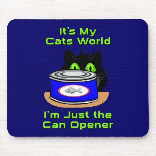 Mundo de los gatos alfombrilla de raton