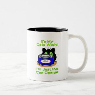 Mundo de los gatos tazas de café