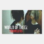 Mundo de los pegatinas de los viajeros de Treez Rectangular Altavoces