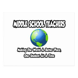 Mundo de los profesores de escuela secundaria… un tarjetas postales