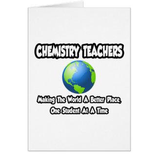 Mundo de los profesores de la química… un mejor lu tarjeta de felicitación