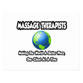 Mundo de los terapeutas del masaje… un mejor lugar tarjetas postales
