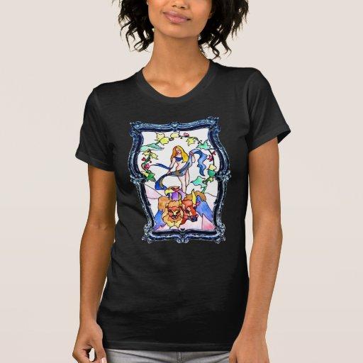 Mundo de mármol camisetas