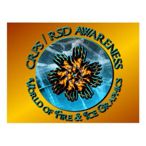 Mundo de oro de la conciencia de CRPS RSD del Tarjetas Postales