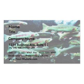 Mundo de oro del mar de los pescados de la trucha tarjetas de negocios