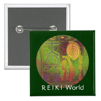 Mundo de R E-I K   I Pin Cuadrada 5 Cm