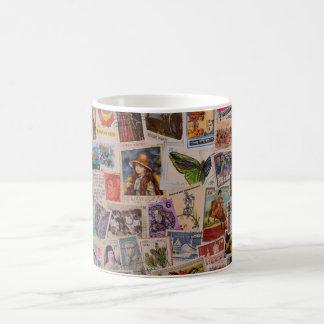 Mundo de sellos - taza de café