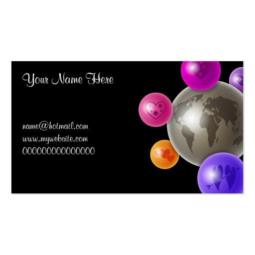 Mundo del amor, su nombre aquí, name@hotmail.com.. tarjetas de visita