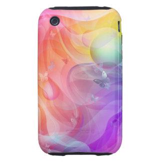 Mundo del arco iris tough iPhone 3 cárcasas