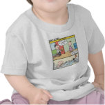 Mundo del bebé de la calle soleada camisetas