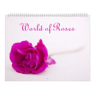 Mundo del calendario de los rosas