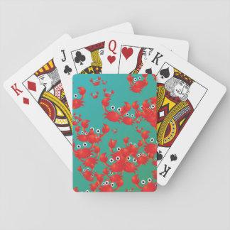 Mundo del cangrejo barajas de cartas