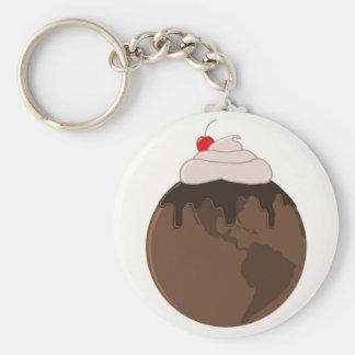 Mundo del chocolate llavero redondo tipo pin