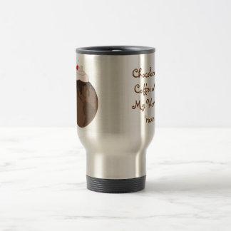 Mundo del chocolate taza de viaje de acero inoxidable