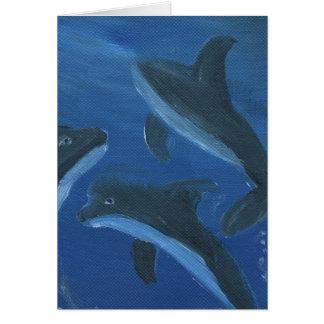 Mundo del delfín tarjeton