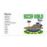 Mundo del fútbol plantillas de tarjetas de visita