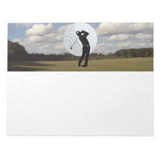 Mundo del golf blocs de papel