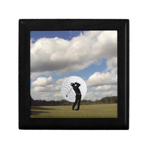 Mundo del golf caja de recuerdo