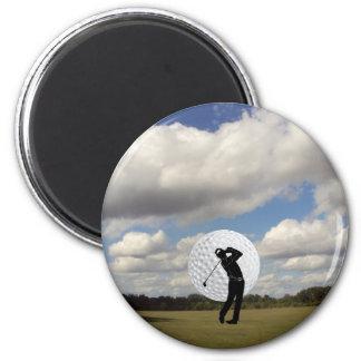 Mundo del golf imán redondo 5 cm