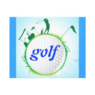 Mundo del golf impresión en lienzo estirada