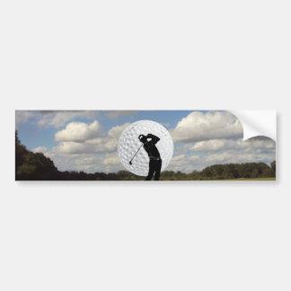 Mundo del golf pegatina para auto