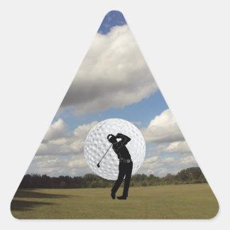 Mundo del golf pegatina triangular