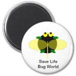 Mundo del insecto imán de frigorifico