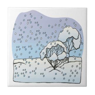 Mundo del invierno azulejos ceramicos
