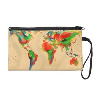 Mundo del mapa de color - bolso