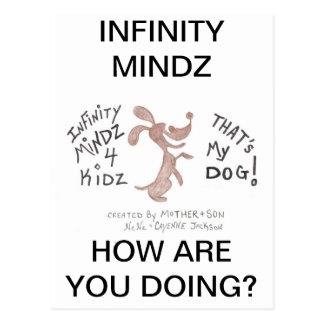 """MUNDO del PERRITO de 4KIDZ de Mindz del infinito """" Postal"""