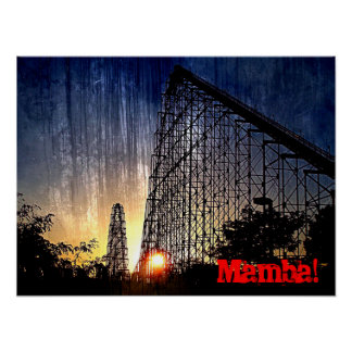 Mundo del roller coaster de la mamba de la diversi posters